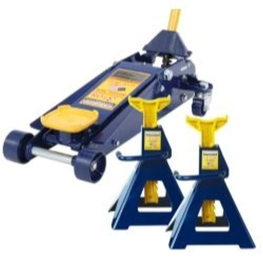 南方のゴムホールドOmega (OMEHW93652JS) 3 Ton Jack and Jack Stand (Pair) Combination [並行輸入品]