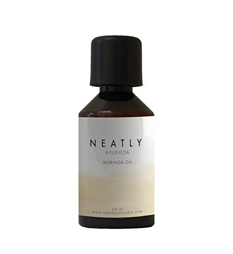Neatly Ayurveda Moringa Oil I 1.69 Fl Oz I Therapeutic Grade Natural Skin Care and Hair Care Product I Contains Essential Vitamins and Minerals I Effective Hair Treatment for Shiny Hair