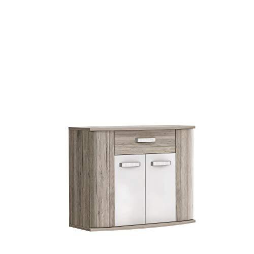 FORTE Rondino Kommode, Holzwerkstoff, 99,7 x 81,5 x 43 cm