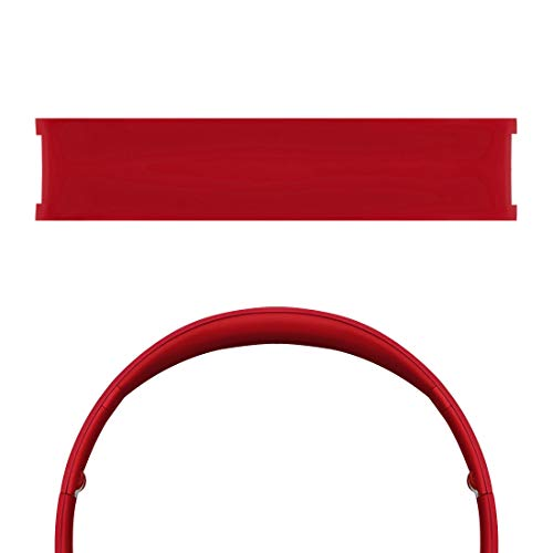 Geekria Headband Pad Compatible with B SoloHD, Solo1.0 On-Ear Headphones Replacement Headband/Silicone Rubber Cushion Pad Repair Parts (Red)