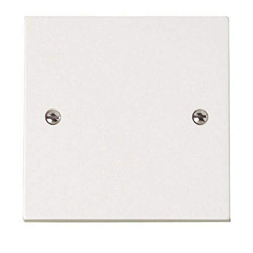 Vytal Electrical Blanking Plate 1 Gang - White Gloss Plastic Finish Dummy Plate