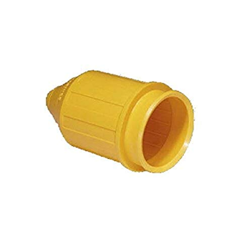 Marinco 7717N Weatherproof Cover for Marinco Marine Electrical 50-Amp Connectors (6361CRN and 6365CRN, Male Connectors, Yellow)