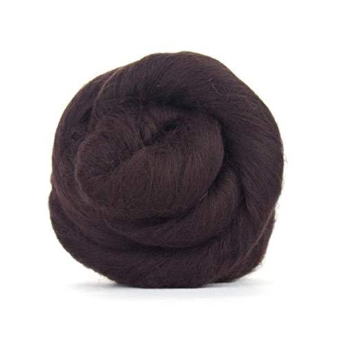 The Wool Barn Merinowolle–Dunkelbraun 50g. Ideal für feuchte Filzen/Filzen mit der Nadel und die Projekte von Handspinnen in der Hand.