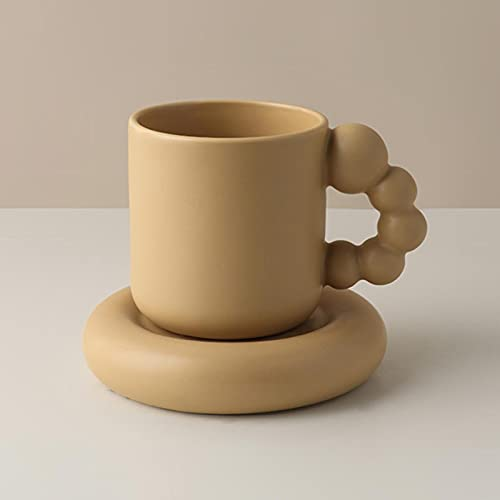 LLY Copa Creativa de cerámica Copa de café nórdica decoración para el hogar artesas a Mano Taza Taza