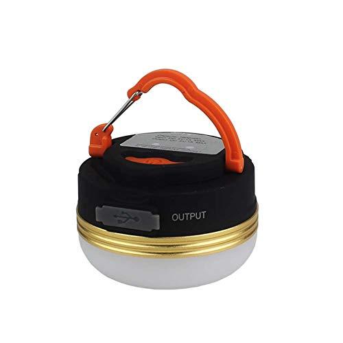 EA-Miao Lanterne de Camping Rechargeable et Chargeur de Banque de Puissance Lampe de Secours Lumineux Tente extérieure lumière pour Camp de pêche de randonnée