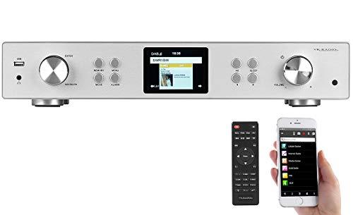 VR-Radio Netzwerkradio: Digitaler WLAN-HiFi-Tuner mit Internetradio, DAB+, UKW, MP3, Alu-Optik (Internet Radio Tuner)