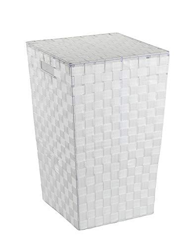 Wenko Wäschetruhe Adria Square - Wäschekorb, mit Deckel Fassungsvermögen: 48 l, 33 x 53 x 33 cm, weiß