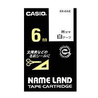 ネームランド用 テープカートリッジ スタンダードテープ【白ラベル 黒文字】 XR-6WE