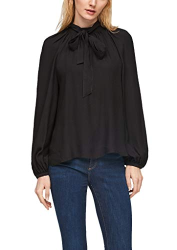 s.Oliver Damen Bluse mit abnehmbarer Schluppe black 38