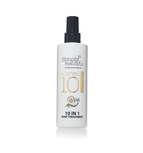 Coconut spray protezione calore e Ricostituente capelli danneggiati, 10Amazing trattamenti in 1flacone–250ml