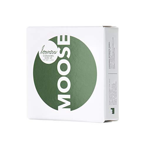Loovara 3 Kondome in individuellen Größen - Kondomgröße 69 - Size Moose - Kondome dünn aus Fair Rubber - Für mehr Fun & Feeling beim Sex - Vegane Präservative im 3er Pack