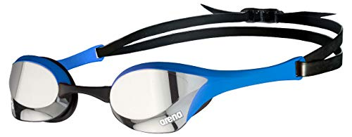 ARENA - Occhialini da nuoto unisex Cobra Ultra Swipe, colore: Argento/Blu