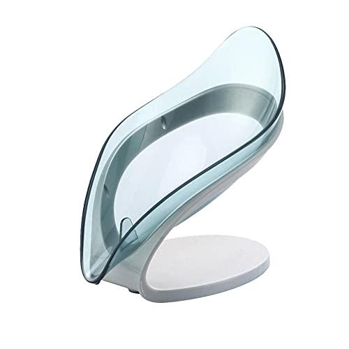 BAWAQAF Caja de jabón de drenaje en forma de hoja caja de jabón jabón de baño titular de jabón plato plato plato bandeja de almacenamiento suministros de ducha baño accesorios de baño