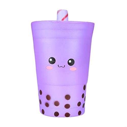 Xuways Squishy Toys Party Favors for Kids, Milk Tea Cup Kawaii Sweet Scented Squishies Slow Rising Kids Toys , Simulation Animal Toy for Autism, ADHD and Quitting Bad Habits