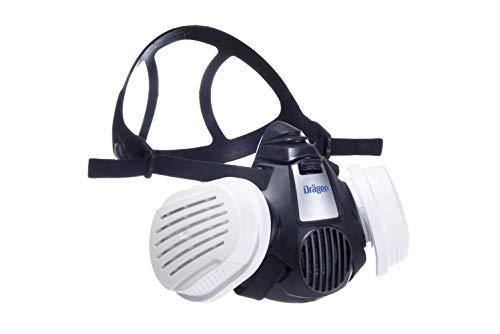 Dräger X-plore 3500 Halbmasken-Set inkl. P3 R Partikelfilter | z. B. für Handwerker| Größe M | gegen Fein-Staub & Partikel