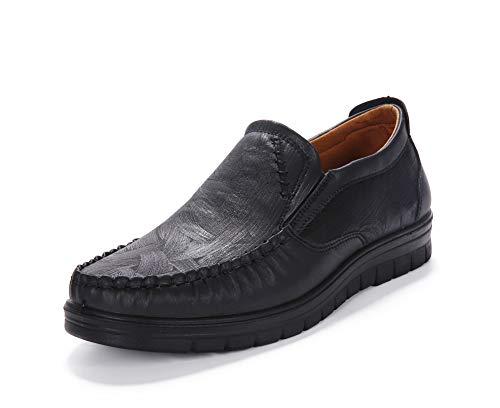 Mocassini Scarpe Uomo Pelle Guida Loafers Antiscivolo Casuale Elegante Camminare Matrimonio Pantofole(Nero,45 EU,27.5CM dal Tallone alla Punta