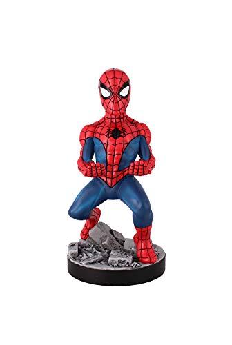Exquisite Gaming - Exquisite Gaming - Cable guy Spiderman Classic, soporte de sujeción y carga para mando de consola y/o smartphone