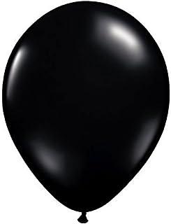 ゴム風船 Qualatexバルーン(ラウンド無地ジュエルカラー)オニキスブラック 16インチ(直径42cm) 50個入り/袋