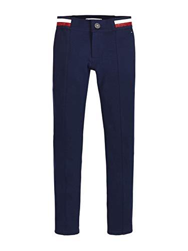 Tommy Hilfiger Essential Punto Milano Treggings Pantalones, Azul (Blue Cbk), 104 (Talla del Fabricante: 4) para Bebés