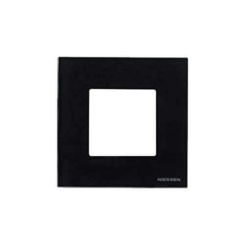 Niessen zenit - Marco 1 elemento 2 módulos serie zenit cristal negro