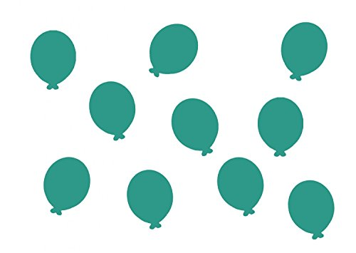 Miniblings 10x Transfert Tissu 26mm Aspect Velours Enfants Ballon Patch I Patches correctifs à Repasser Repassage, Color:türkis