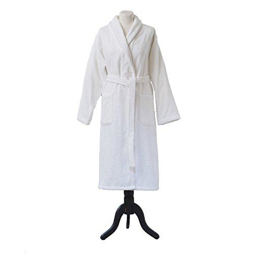 Essix Home Collection, Accappatoio in cotone con cappuccio, Bianco (weiß), S