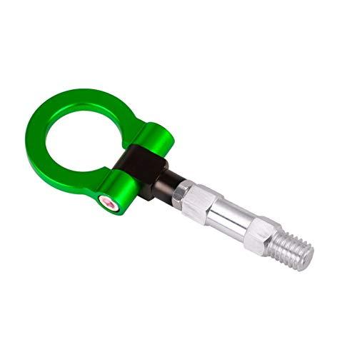 Kit De Anillo De Gancho De Remolque De Máquinas De Aluminio CNC En Estilo De Gancho De Remolque De Gancho De Remolque Uso Apto Para BMW 3/4/5 Serie Remolque Gancho (Color Name : Green)