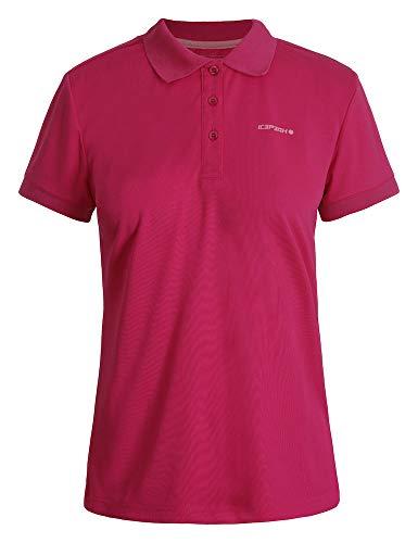 Icepeak Damen Polo Shirt Kassidy, Karminrot, M, 554631590I