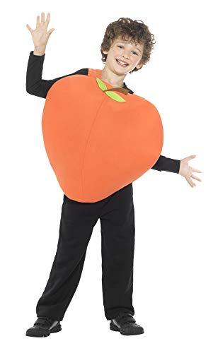 Smiffy's-43137 Disfraz de melocotn, con Tabardo, Color Naranja, Tamao nico (43137)