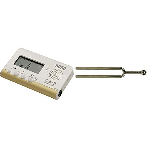 Korg Afinador digital cromatico CA-2 para instrumentos de cuerda e instrumentos de viento + WittnerDiapasón (440 Hz, 12 cm, redondo)