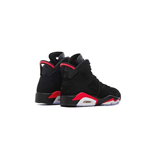 Jordan 6 Retro, Zapatillas de Deporte Hombre, Multicolor (Black/Infrared 000), 45.5 EU