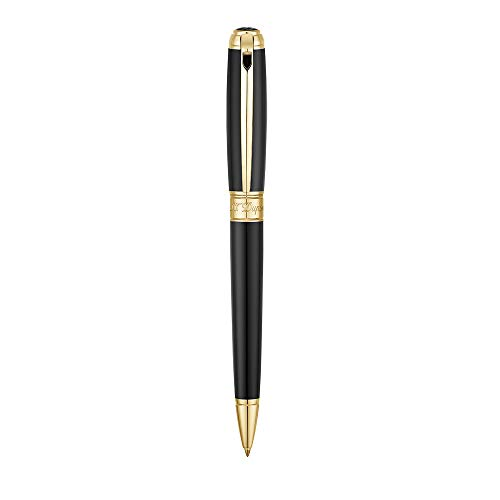 S.T. Dupont Kugelschreiber Line D M schwarz/gold