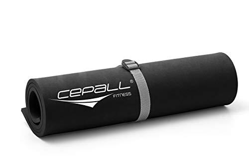 Cepall Fitness, Colchonete Eva, Preto, 90 X 40 X 0.7 cm