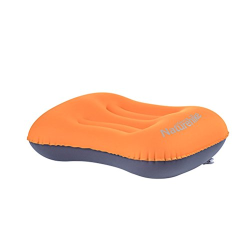 winomo aufblasende Kissen Ultralight Camping Reise aufblasende Kissen tragbar kompakt für Wandern Rucksackreisen Picknick outdoor Sport (orange)