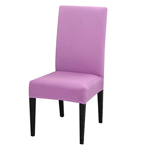 NGHXZ 4PCS Colores sólidos Flexible Estiramiento Spandex Cubierta de la Silla, extraíble Estiramiento para sillas Cubiertas Protectoras extraíble Lavable Fundas.