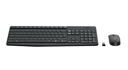 Logitech MK235 - Pack de Teclado y ratón inalámbrico, negro