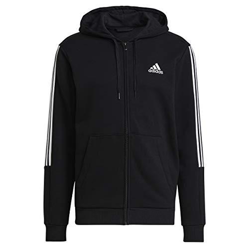 adidas M Cut 3S FZ Hd Sweatshirt für Herren M schwarz / weiß