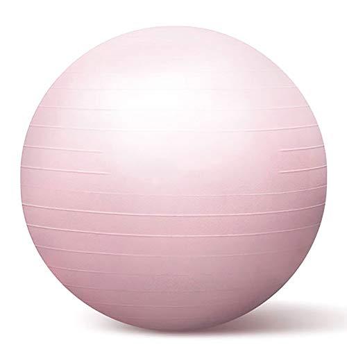 SSZY - Pelota de gimnasia para niños o principiantes, con bomba rápida, varios tamaños y colores, color rosa, tamaño 55cm/27.1in
