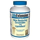 海外直送品 Life Extension Skin Restoring Ceramides with Lipowheat, with Lipowheat 30 liquid capsules