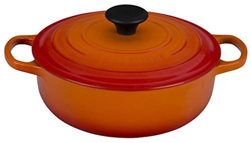 Le Creuset Enameled Cast Iron Signature Sauteuse Oven, 3.5 qt., Flame