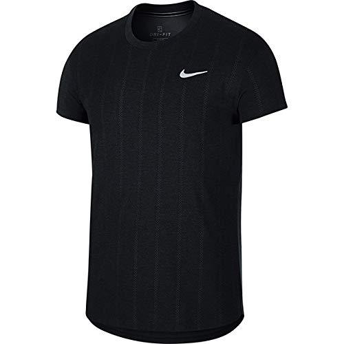 NIKE M Nkct Chllngr Top SS T-Shirt, Hombre, Black/White
