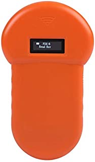 fosa Animal ID Reader, 134.2Khz Animal ID Microchip Scanner LCD Display Real Time ISO ID Chip Animal Reader RFID Dog Micro...