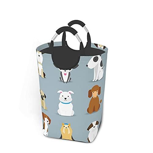 KPJDWEDS Cesta de lavandería para perros y mascotas, grande, plegable, tela Oxford, cesta de almacenamiento con asas para baño, habitación de niños, dormitorio, 50 l