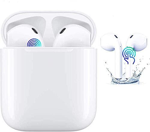 Auriculares Bluetooth 5.0 Auricular Inalámbrico Control Táctil con Graves Profundos In-Ear Auriculares Bluetooth con Caja de Carga Rápida IPX7 Impermeables,para Android/iPhone/Airpods2/Samsung