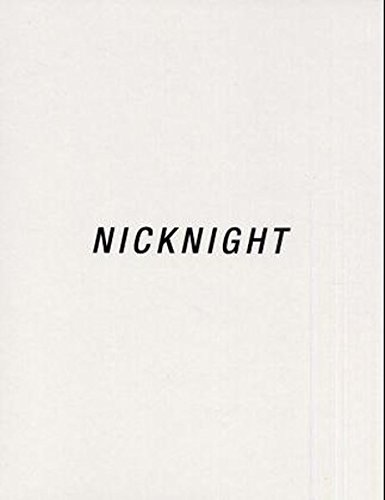 Nick Knight: Nicknight - The Blue Velvet Book: Photographs (Schirmer art books on art, photography & erotics)