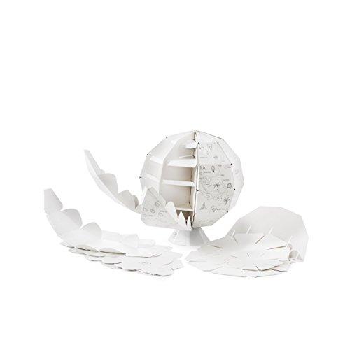 Donkey Products My First Globe Papierglobus, Papier Globus zum Ausmalen, Recyceltes Papier, Weiß, 27 cm, 400714