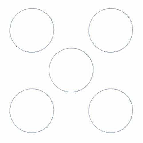 5 Drahtring Metallring weiss 30 cm z.B. für Traumfänger