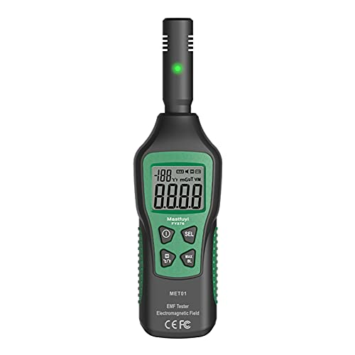 Tiffasha Detector de microondas de Alta precisión, FY876 3-en-1 EMF Pantalla LCD retroiluminada Digital Detector de Fugas de microondas con función de Linterna y Alarma de luz y Sonido