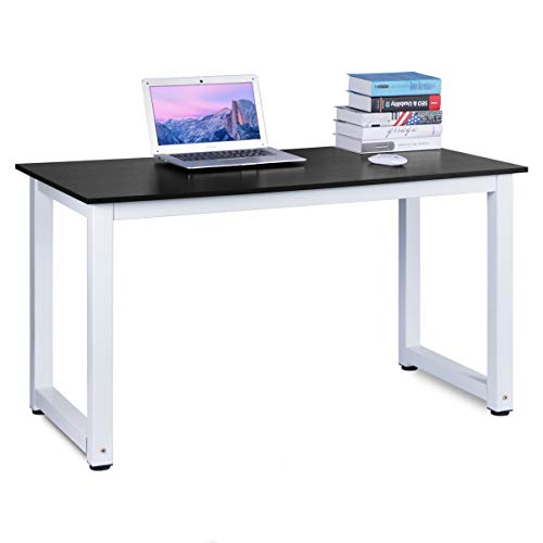 dosleeps Computer Desk, 110x50x75cm Office Study Desk Computer PC Laptop Table Workstation Dining Gaming Table for Home Office, Black Wood Grain