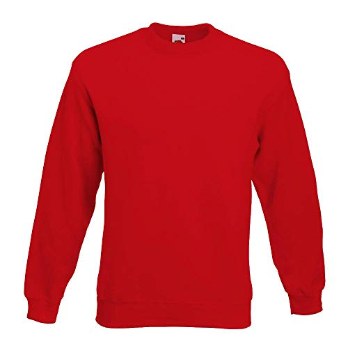 Fruit of the Loom - Set-In Sweatshirt - rot - Größe: XXL